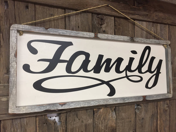 large framed family sign love sign valentine's sign headboard sign bedroom decor gift for her