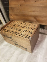 Advent Calendar, Advent Storage, Crate Gift, Advent Gift, Gift for him, Gift for her