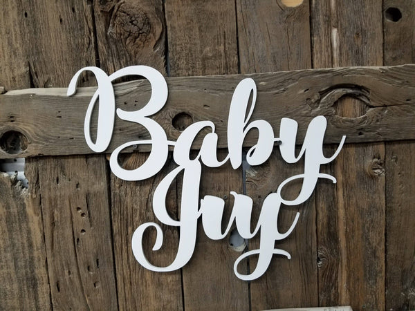 Baby Ivy Wood Cutout Sign, Name Art, Cutout Sign, Cut out decor
