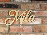 Mila name cutout, Cutout decor, Nursery decor, wedding backdrop, name backdrop