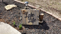 Lake Life Pallet sign, lake life, pallet sign, rustic sign, lake decor, cleet, Lake House decor, Lake house sign