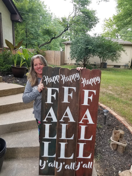 Happy Fall Yall 5 foot Wooden Porch Sign, FALL Porch Sign, Fall Porch Decor, Fall Decor, Fall Decorations, Welcome Sign, Porch Decor