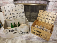 Advent Calendar, Advent Wine Calendar, Storage, Beer, Wine Cell Gift, wine Crate, Advent Gift, Gift for him, Gift for her, perfect wine gift