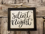 Silent Night sign, Christmas decorations