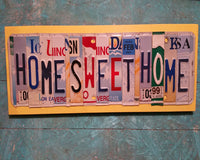 License Plate Sign License Plate letter Art Picture Home Deco Home Sweet Home License Plate Letter Sign
