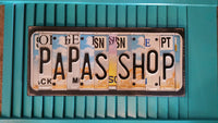 License Plate Sign License Plate letter Art Picture Home Deco PAPAS SHOP License Plate Letter Sign License Plate Art