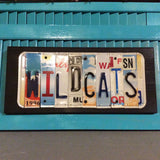 License Plate Sign License Plate letter Art Picture Home Deco WILDCATS License Plate Letter Sign License Plate Art