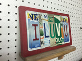 License Plate Sign License Plate letter Art Picture Home Deco I LUV U License Plate Letter Sign i love you