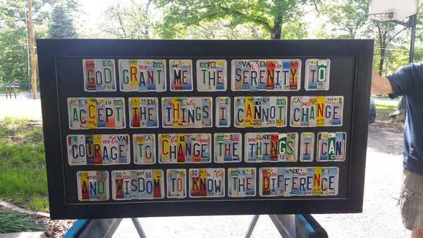 The Serenity Prayer License Plate Sign