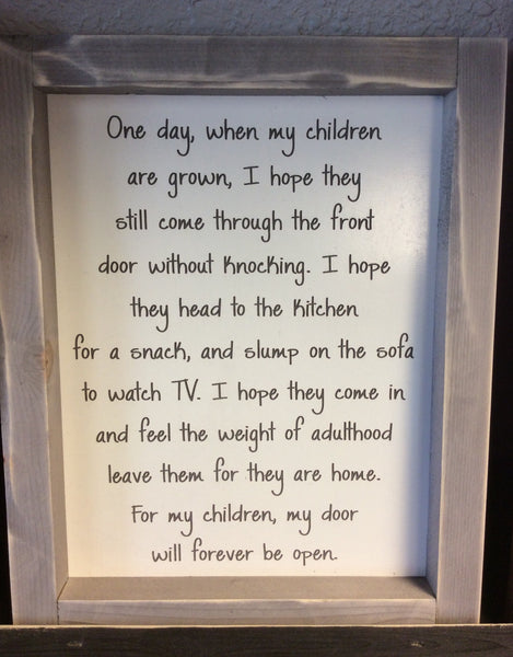 One Day 8x10 Framed Sign