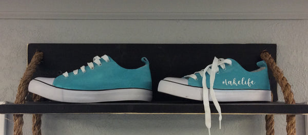 Paint and embellish your own Lake Life Shoes