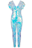 rosa bloom opal wedding bride bridal mermaid jumpsuit sequin catsuit festival white pale blue lilac