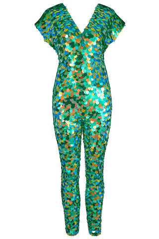 Flatlay of Amazon Aphrodite sequin Jumpsuit