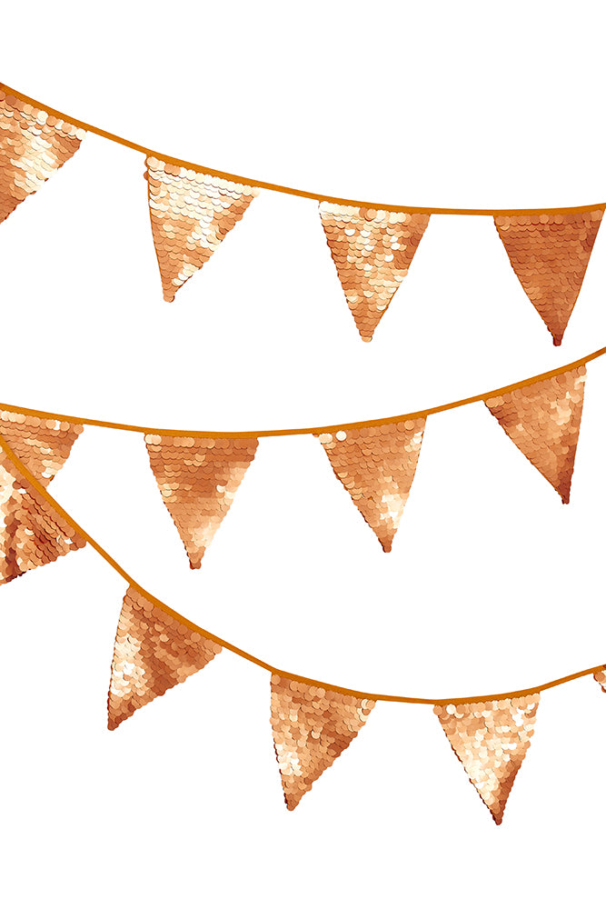 Sequin Bunting - Gold