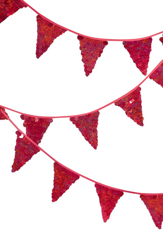 Sequin Bunting - Red