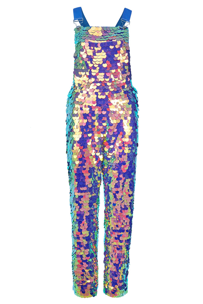 CLYDE SEQUIN DUNGAREES - ORCHID '18