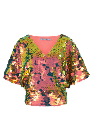 FLORENCE CAPE TOP - FLAME