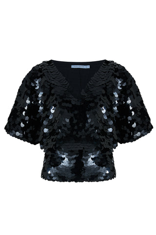 FLORENCE CAPE TOP - BLACK