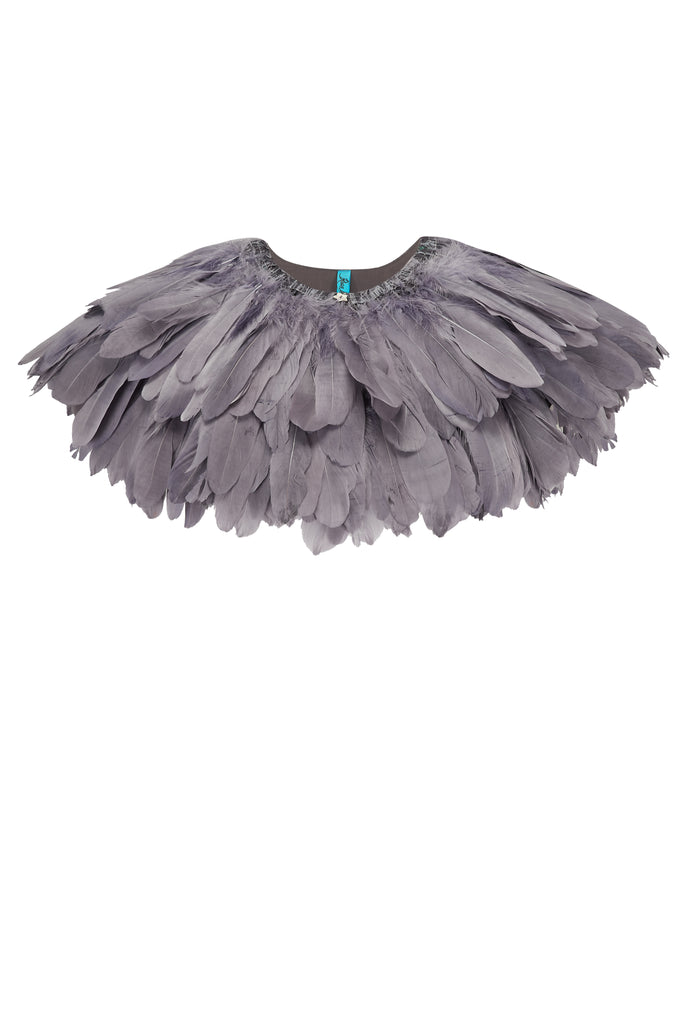 FIREBIRD FEATHER CAPE - SLATE GREY