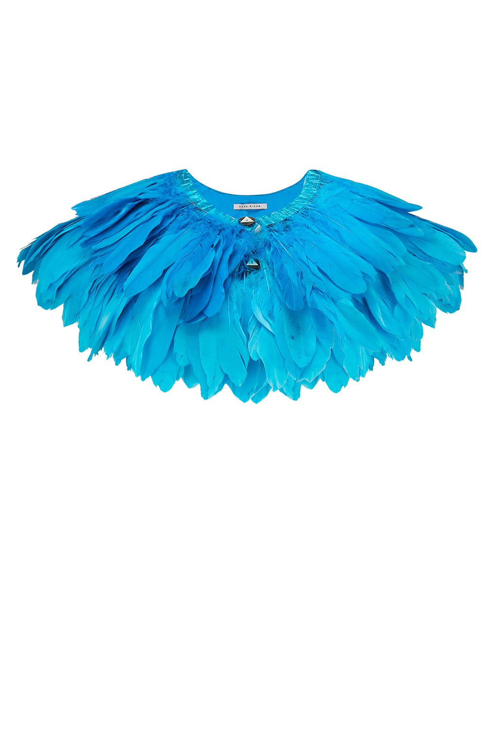 FIREBIRD FEATHER CAPE - TURQUOISE