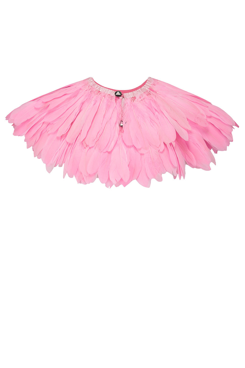 light pale pink feather cape