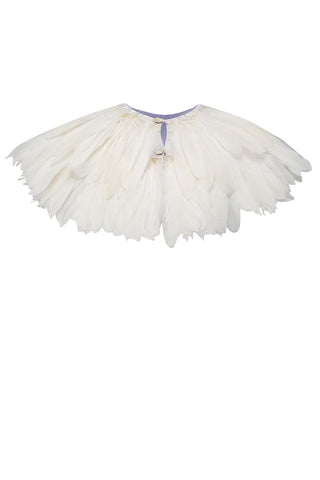 white feather cape rosa bloom weddings