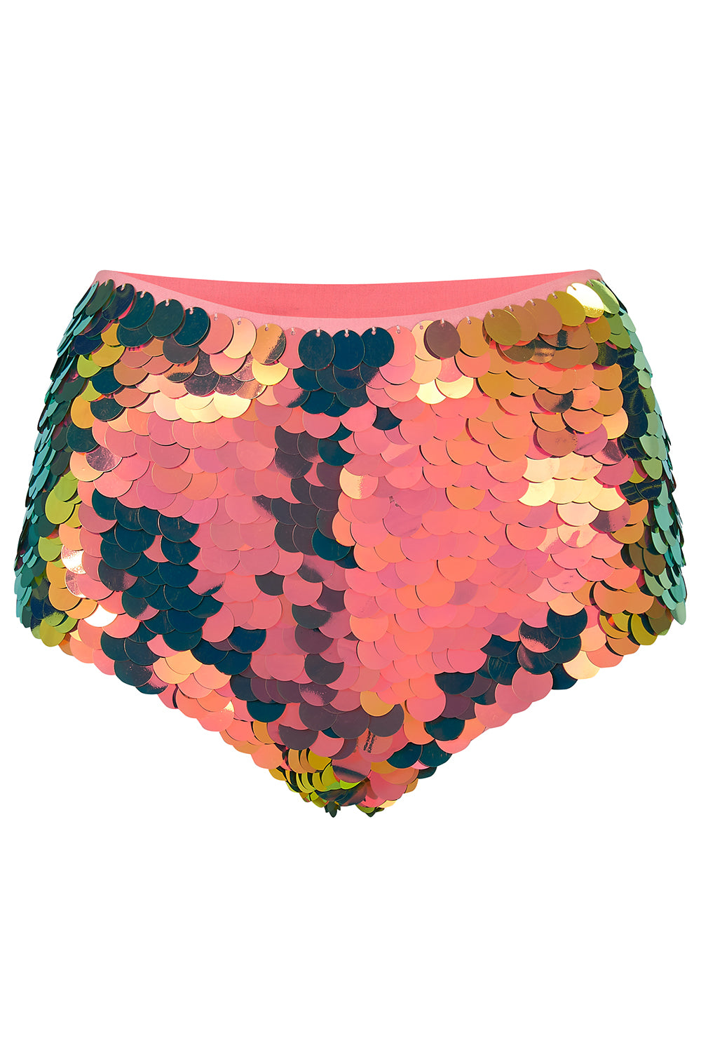GIGI SEQUIN HOTPANTS - FLAME