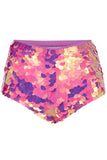 GIGI SEQUIN HOTPANTS - FLAMINGO