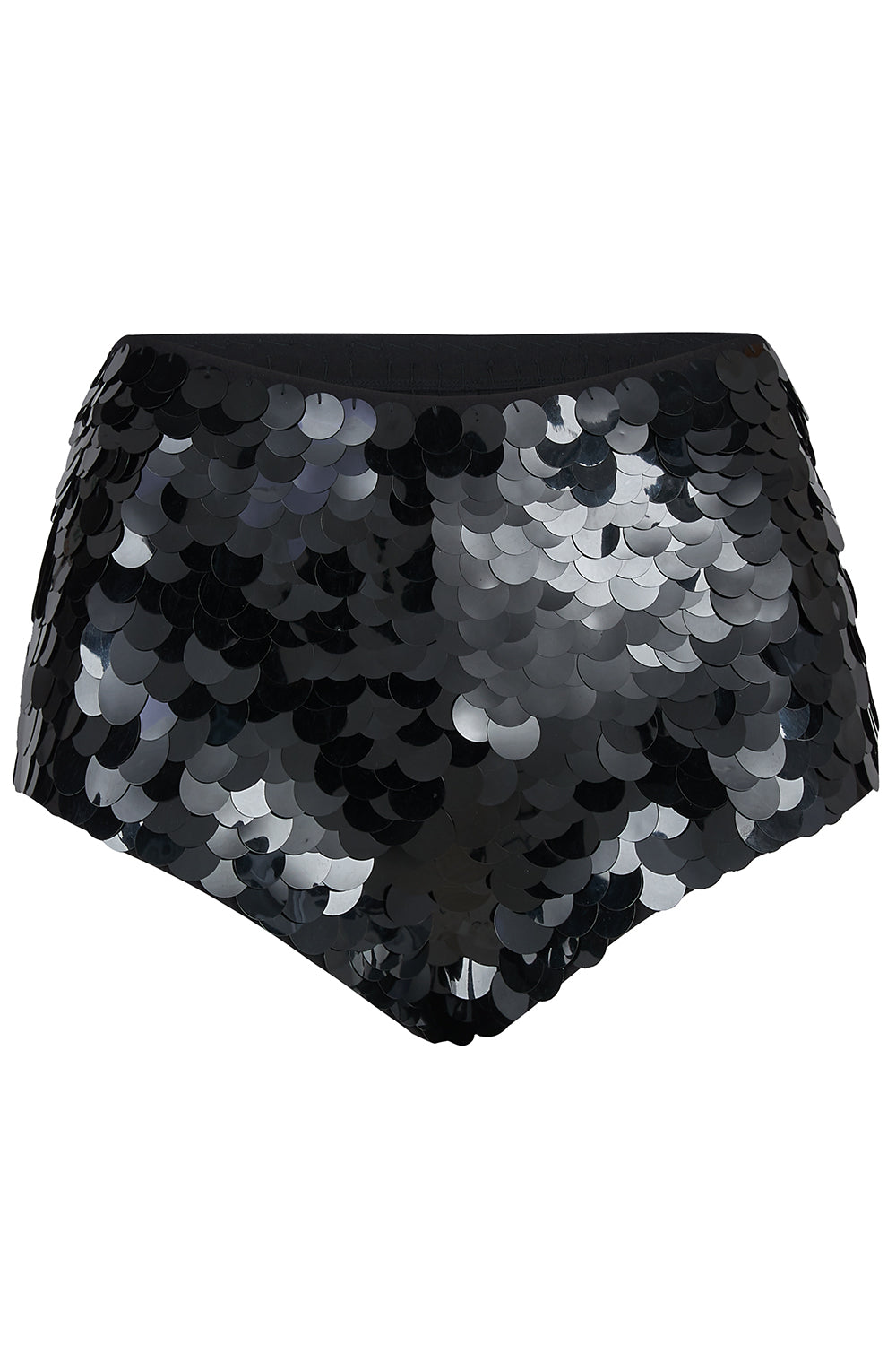 GIGI SEQUIN HOTPANTS - BLACK