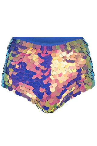 GIGI SEQUIN HOTPANTS - ORCHID '18