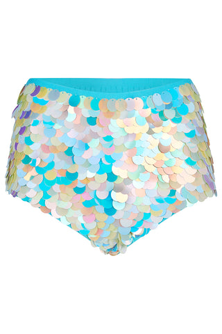 GIGI SEQUIN HOTPANTS - PEARL