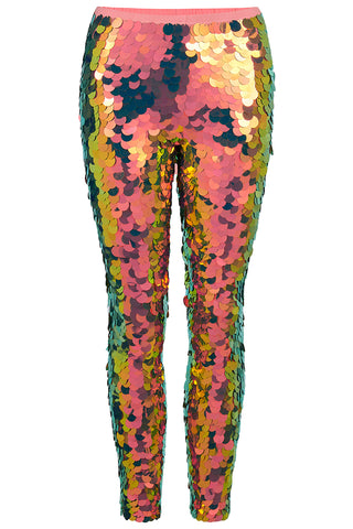 INDUS SEQUIN LEGGINGS - FLAME