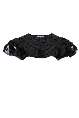 INTI SEQUIN CAPE - BLACK