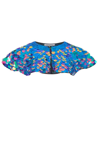 INTI SEQUIN CAPE - JEWEL