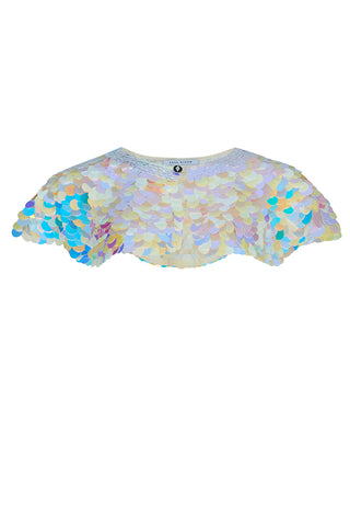 INTI SEQUIN CAPE - PEARL