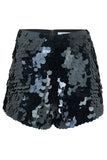 JUNO SEQUIN SHORTS - BLACK