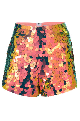 JUNO SEQUIN SHORTS - FLAME