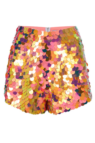 JUNO SEQUIN SHORTS - SOLAR
