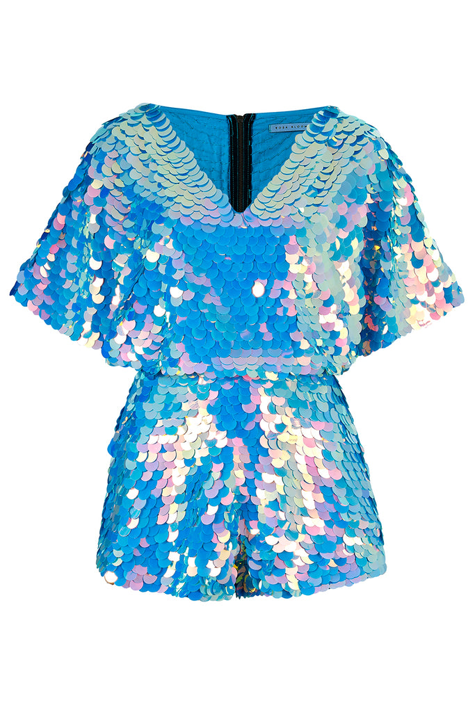 MELLA CAPE PLAYSUIT - MOONRISE