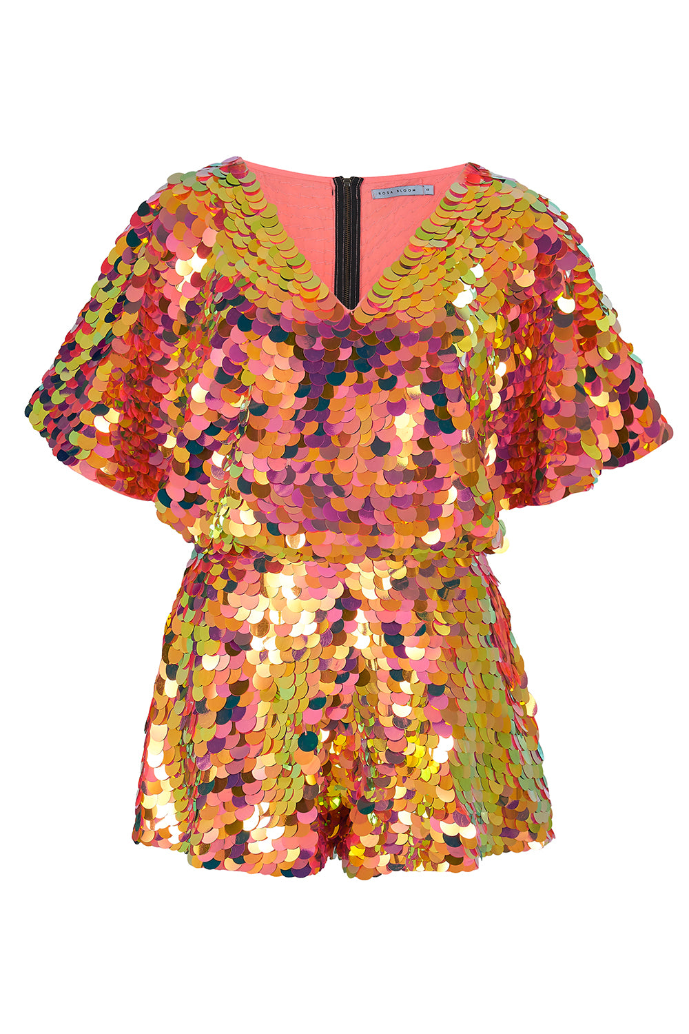 MELLA CAPE PLAYSUIT - SOLAR