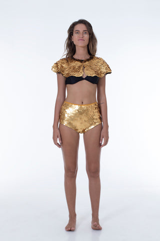 GIGI SEQUIN HOTPANTS - GOLD