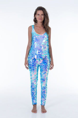 INDUS SEQUIN LEGGINGS - AMETHYST