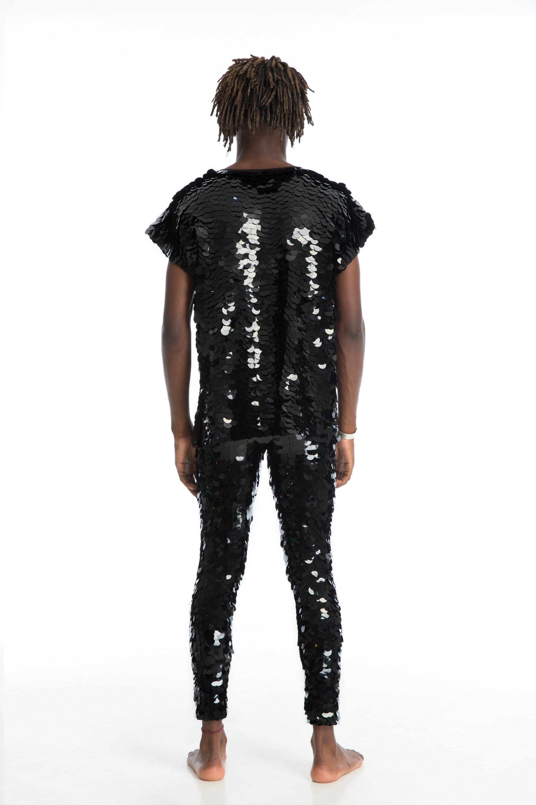 TOMMY SEQUIN T-SHIRT - BLACK