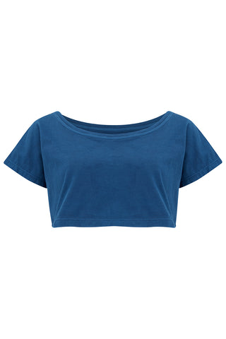 SANDY CROP T-SHIRT - NATURAL INDIGO