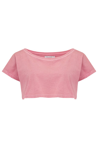 SANDY CROP T-SHIRT - NATURAL PINK