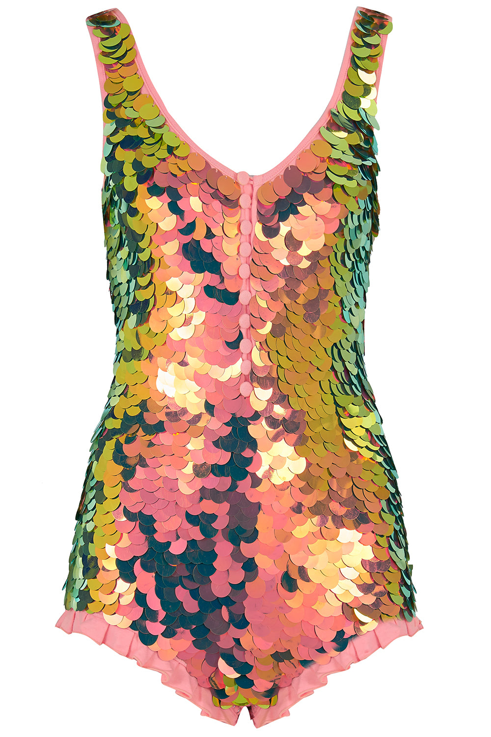 SEA CIRCUS SEQUIN PLAYSUIT - FLAME