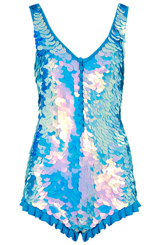 SEA CIRCUS SEQUIN PLAYSUIT - MOONRISE
