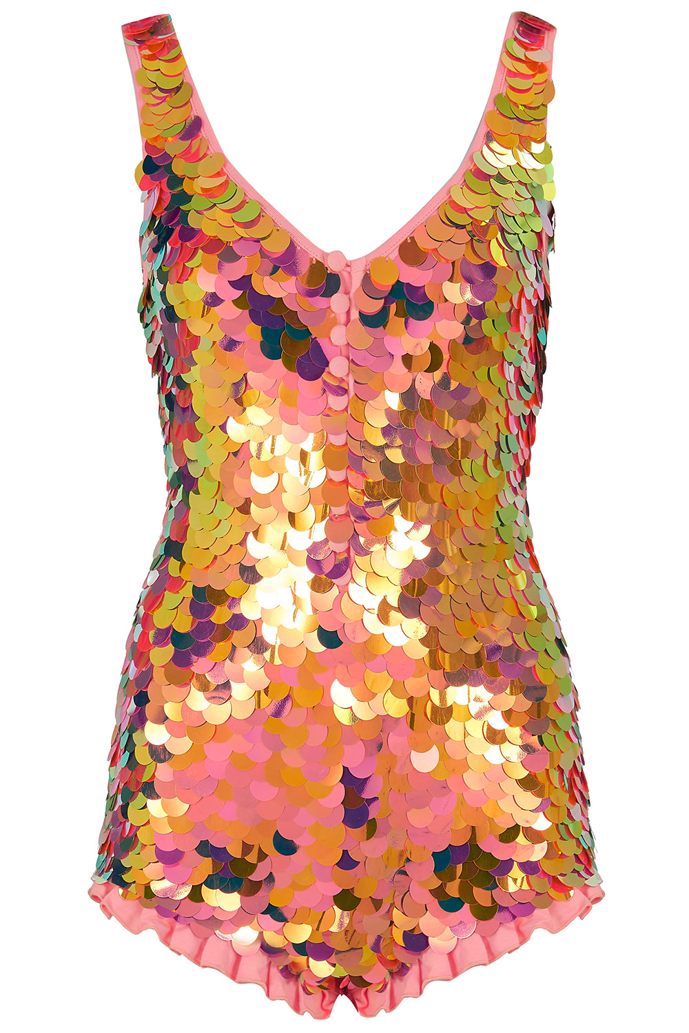 SEA CIRCUS SEQUIN PLAYSUIT - SOLAR
