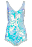 SEA CIRCUS SEQUIN PLAYSUIT - OPAL