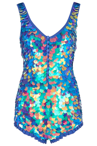 SEA CIRCUS SEQUIN PLAYSUIT - JEWEL
